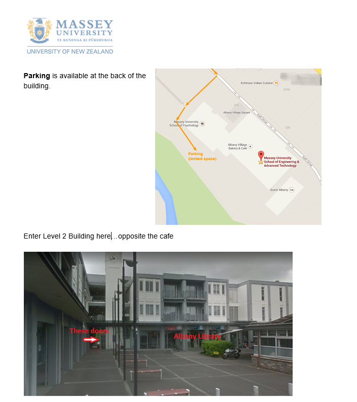 Massey University Engineering School Location