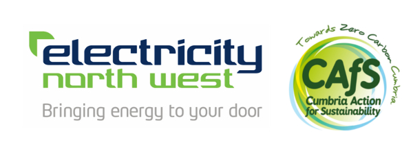Electricity North West & Cumbria Action for Sustainability logos