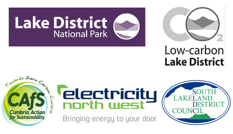 Low Carbon Lake District 10th anniversary event - organiser logos