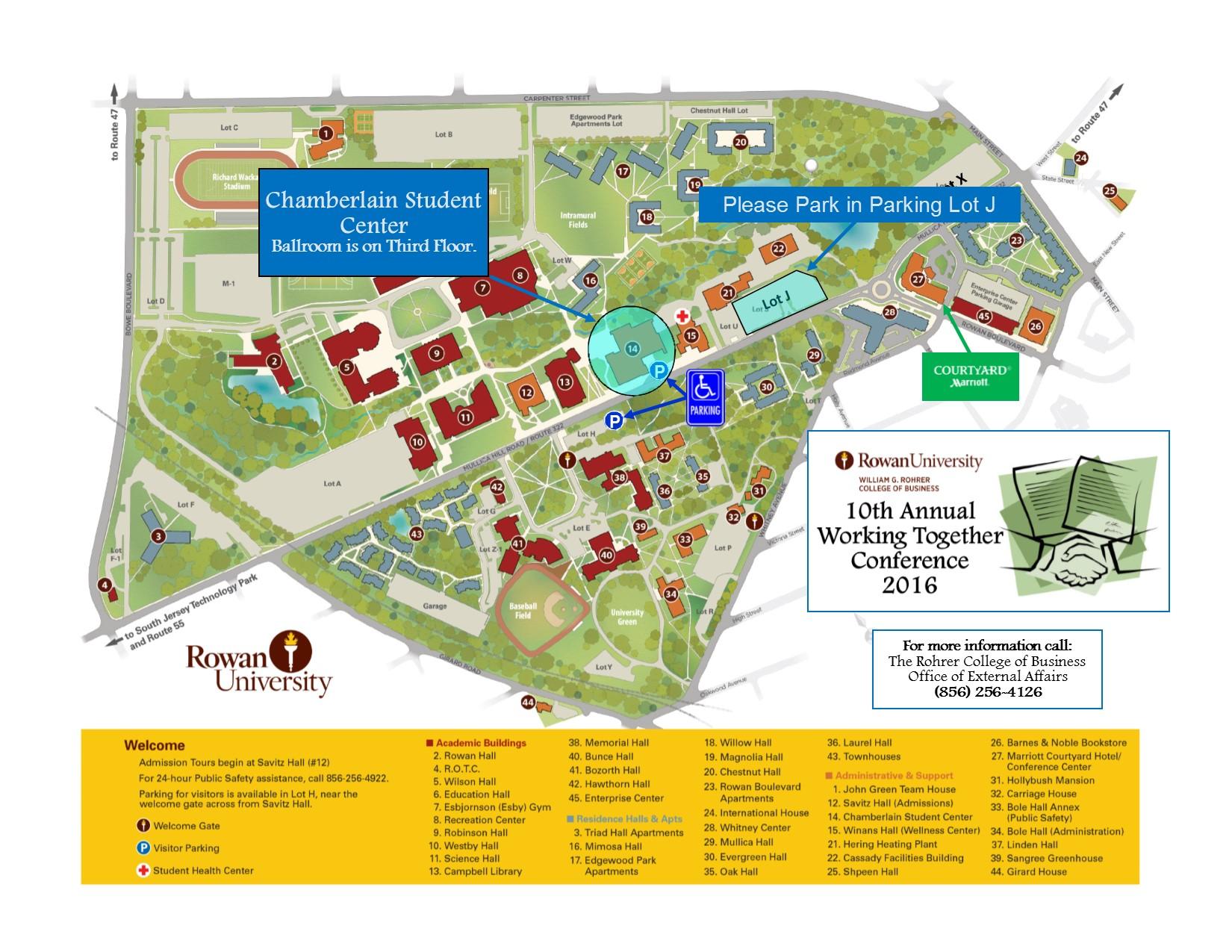 rowan university map vproject