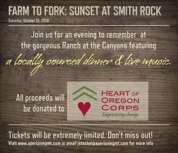 Farm to Fork Sunset at Smith Rock Image