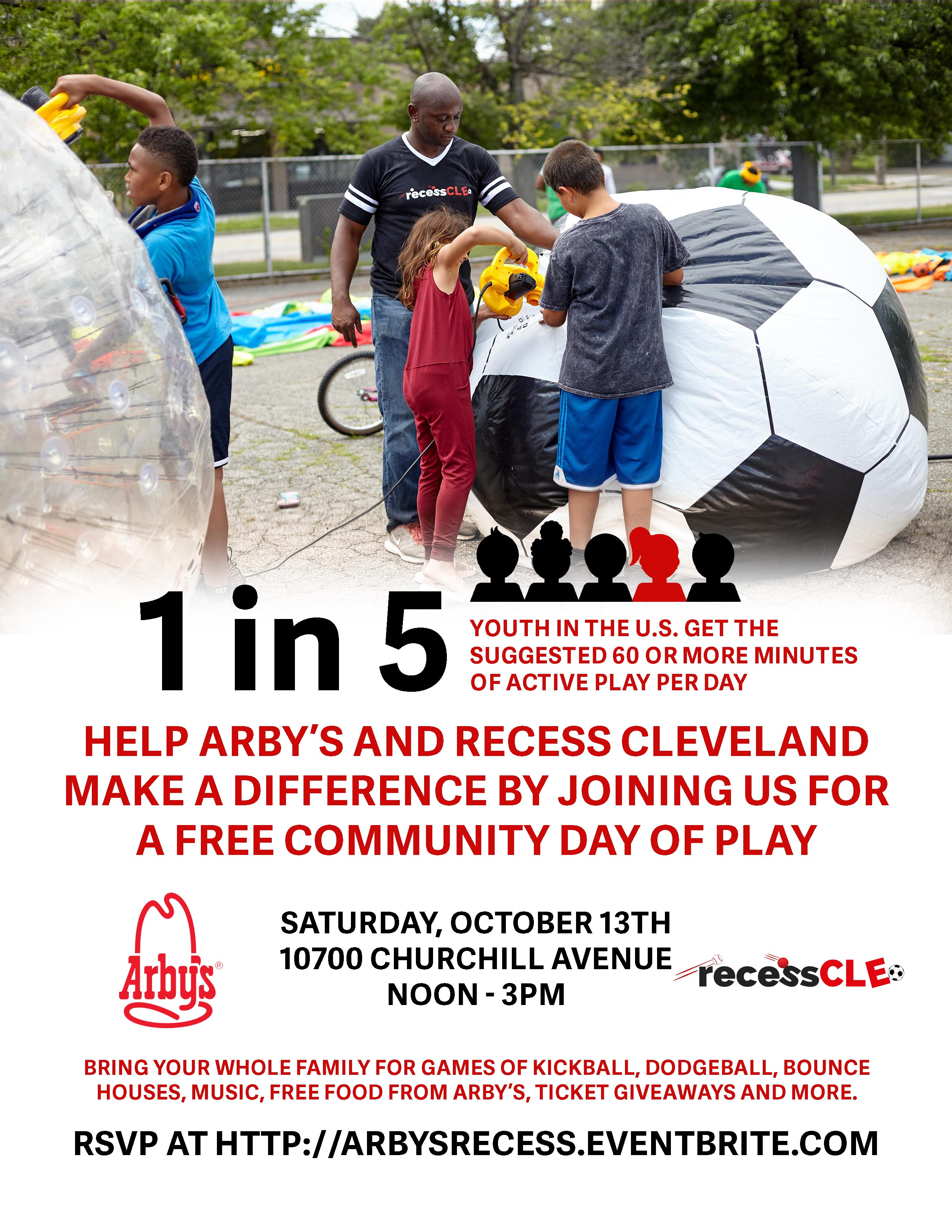 Make a difference day Arby's and Recess Cleveland