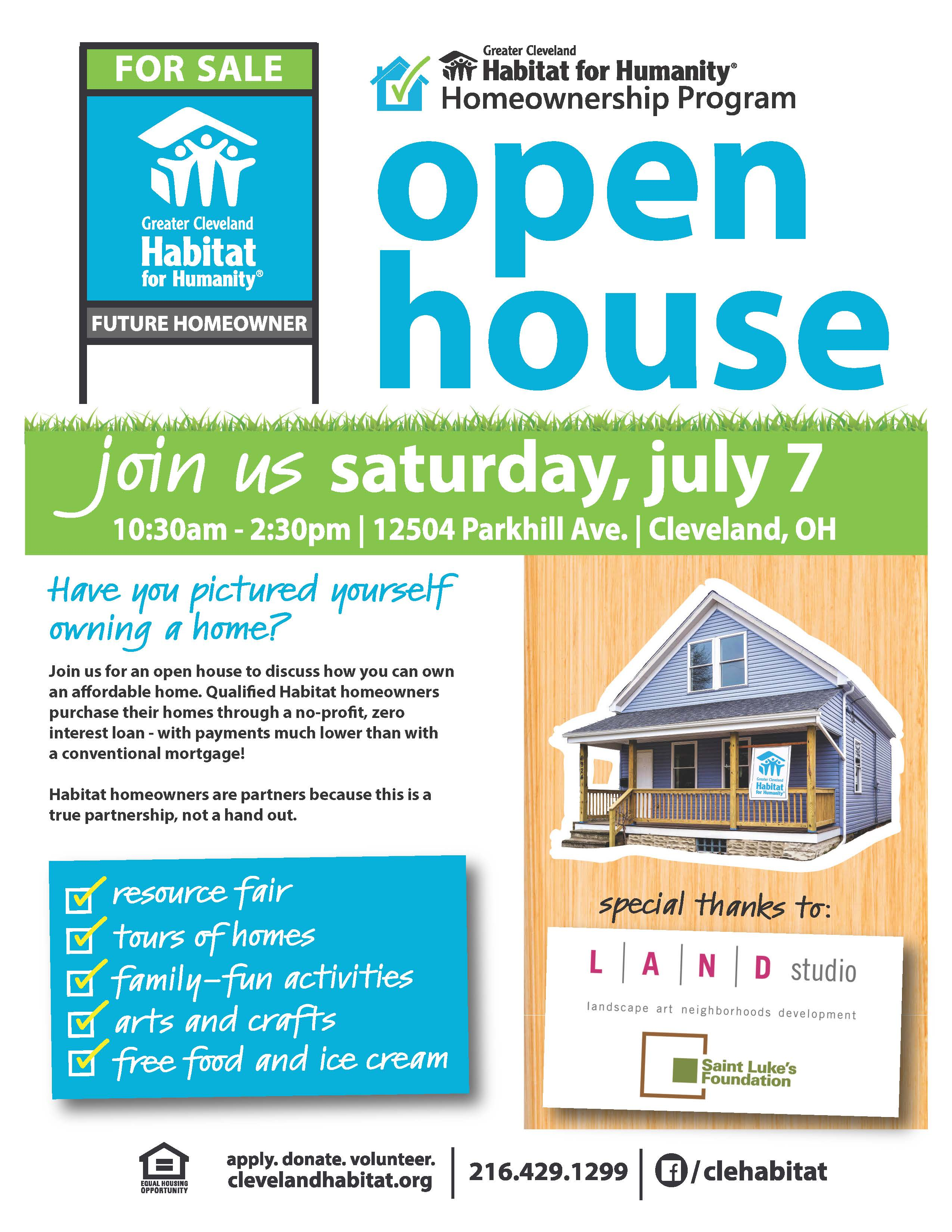 Habitat for Humanity Open House f/Recess Cleveland