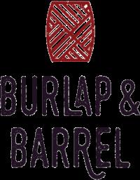 burlap barrel