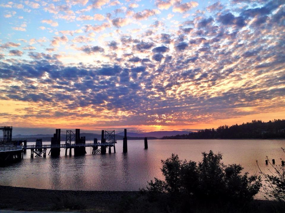 Sunset on Beautiful Salt Spring Island