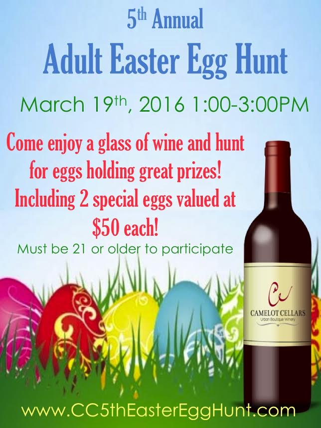 Adult easter egg hunt tickets sat mar 19 2016 at 1 00 for What to put in easter eggs for adults