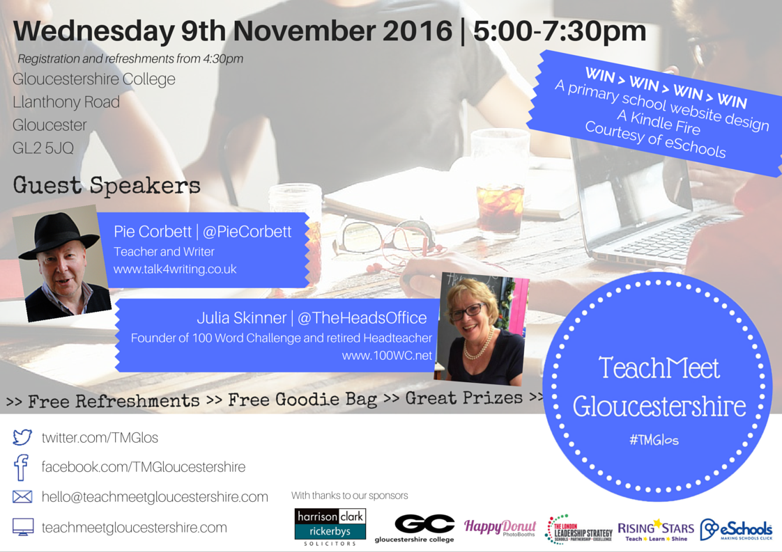teachMeet Gloucestershire Event Flyer
