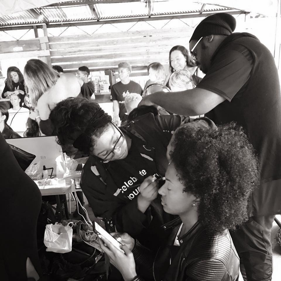 Pretty Much Academy Hands on Makeup Class for MUA's Behind the scenes at NYFW