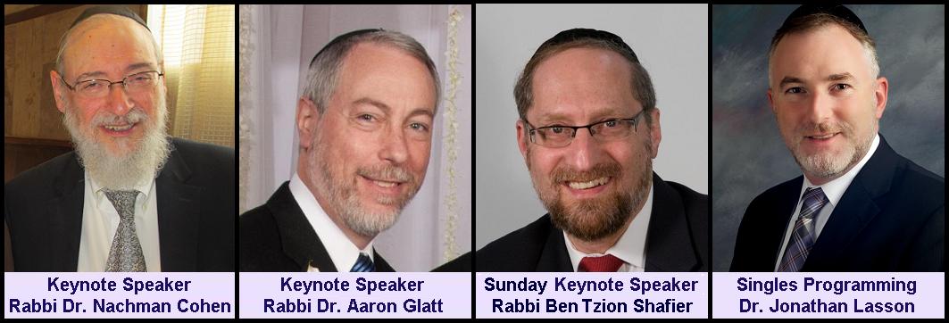 Rabbi Dr. Nachman Cohen, Rabbi Dr. Aaron Glatt, Rabbi Ben Tzion Shafier, Dr. Jonathan Lasson