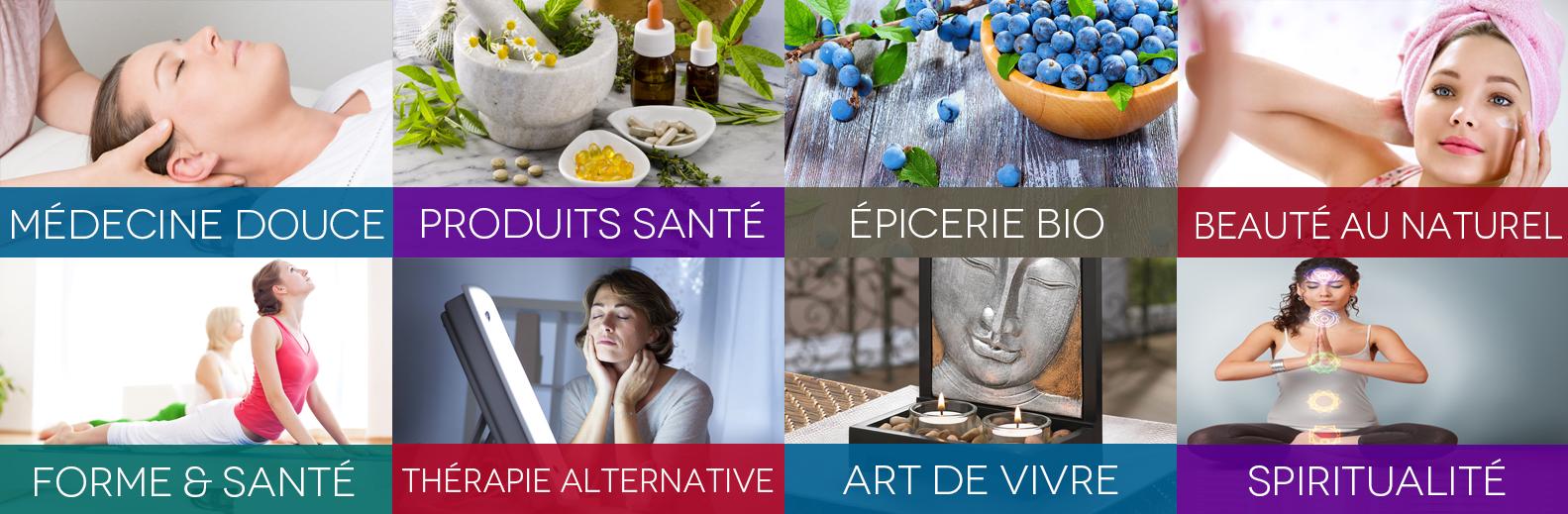 Le salon offre une sélection d'exposants en médecine alternative, santé holistique et spiritualité