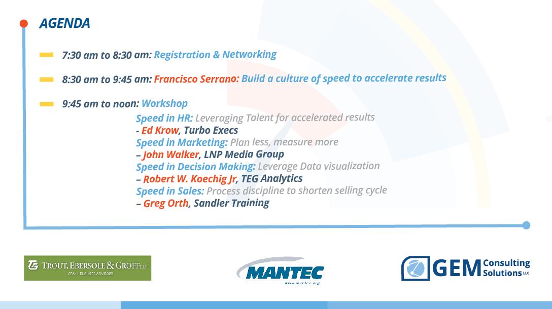October 26 Speed Business Forum Event Lancaster
