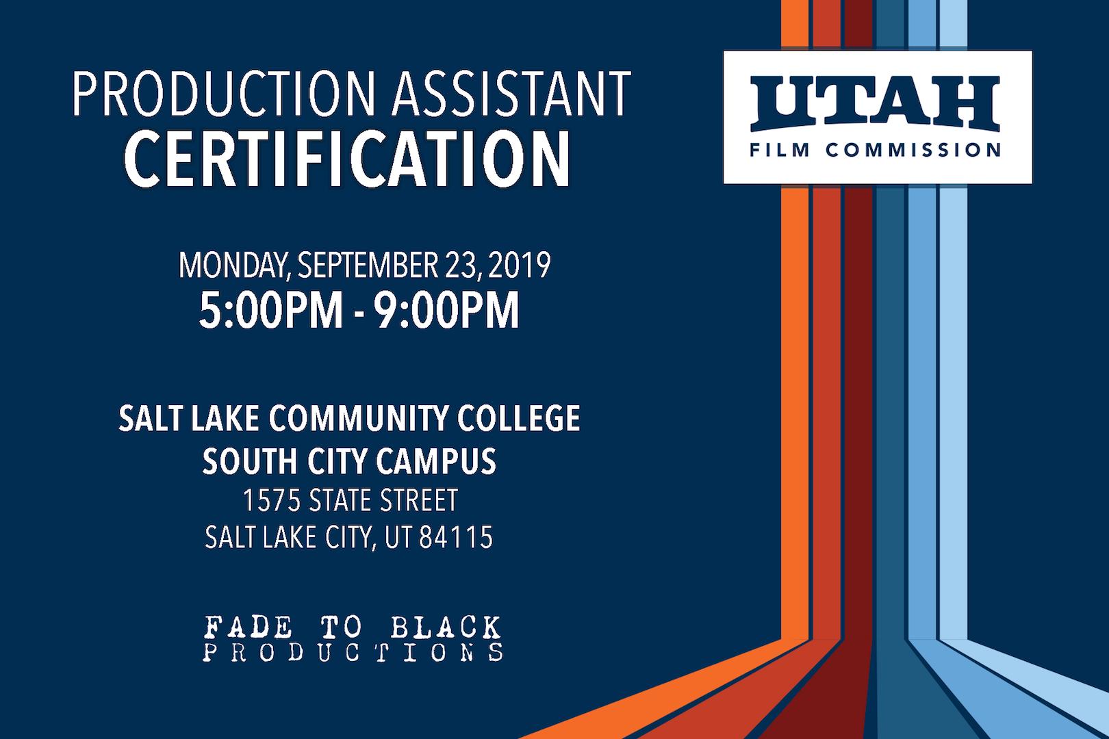PA Training Information September 2019
