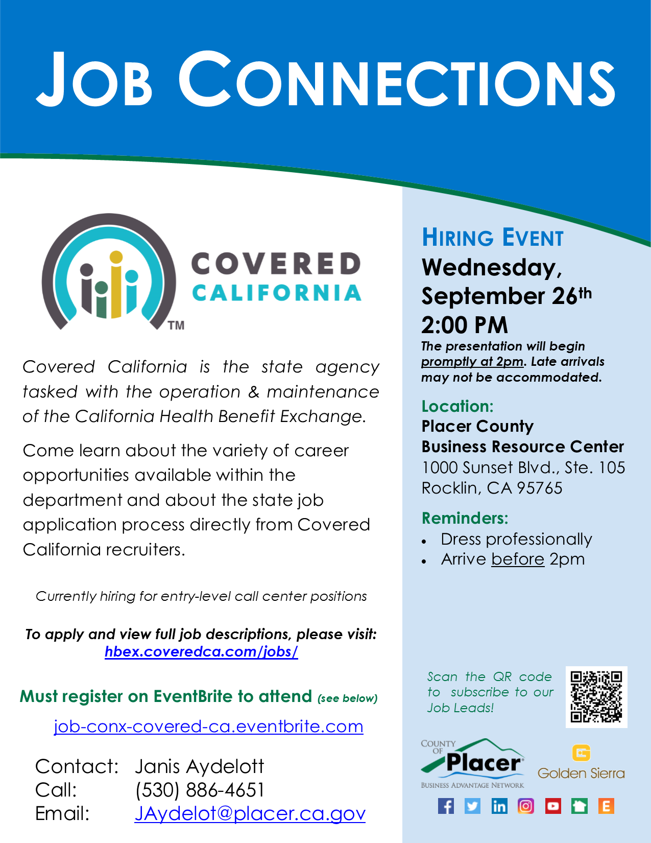 Job Connections Flyer full page Covered CA