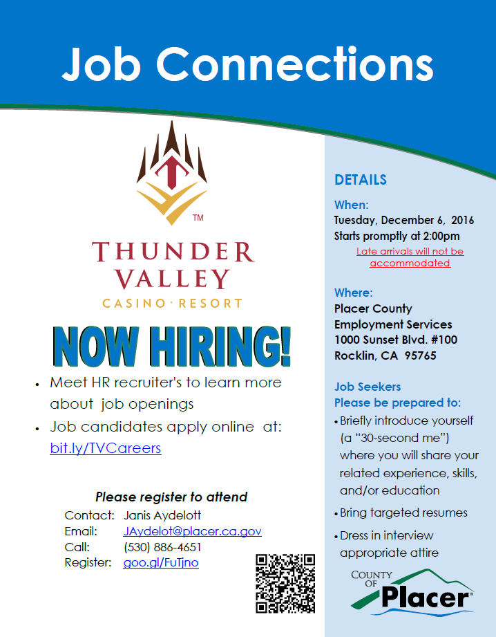 JOB CONNECTION THUNDER VALLEY