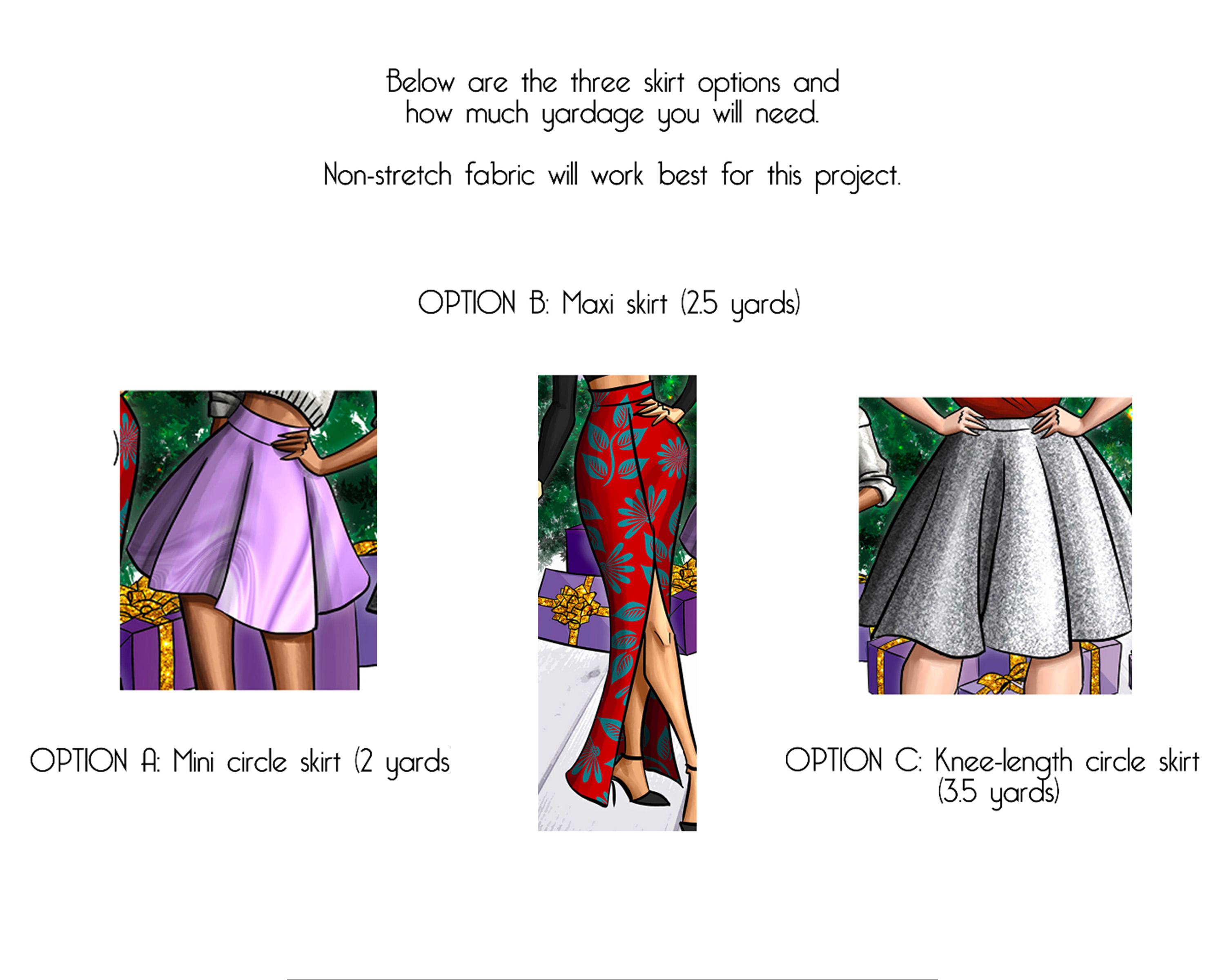 skirt styles to choose from for sewing