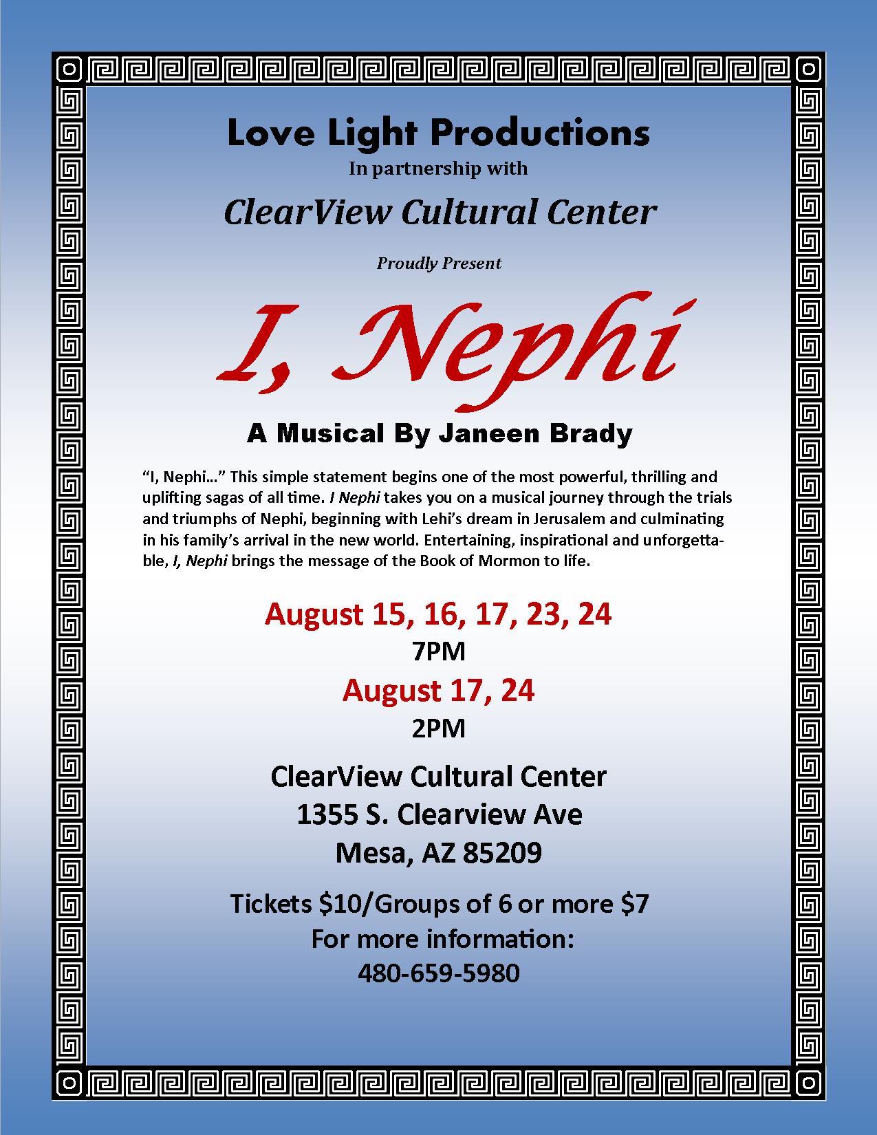 I, Nephi a Musical