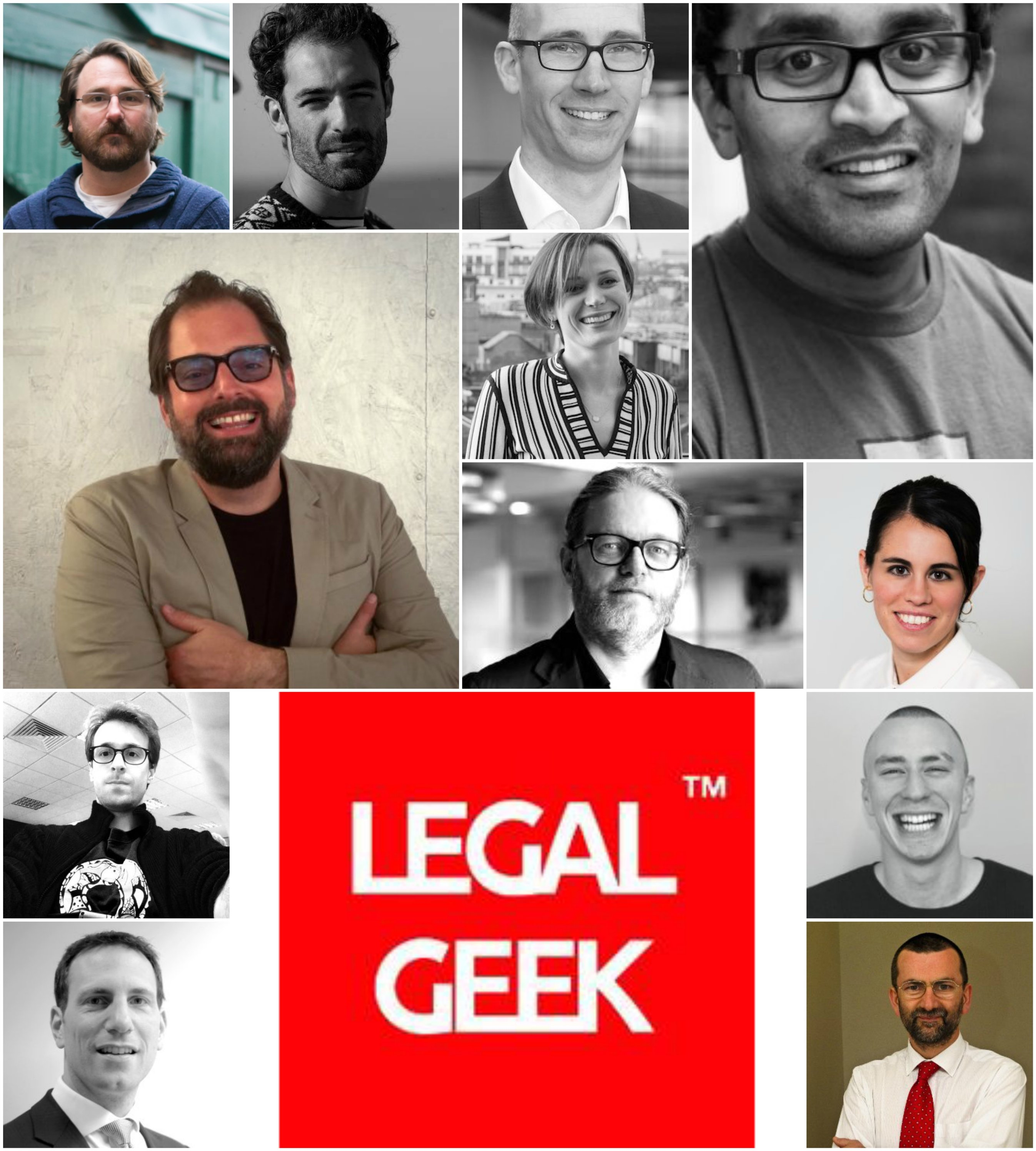 Legal Geek Collage Speakers