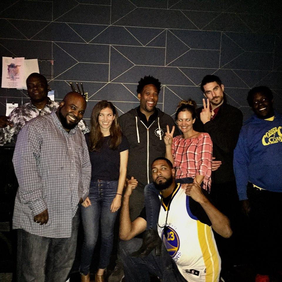 Dejan Tyler and the crew after his Headlining set at Craftwork Comedy