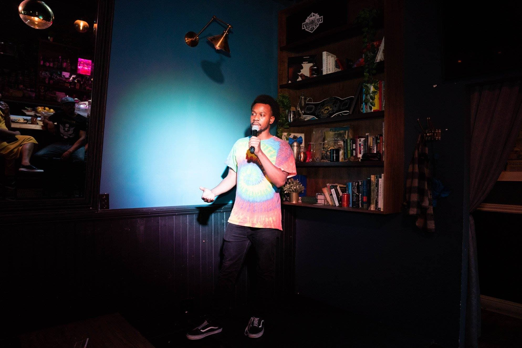 Mike Evans Jr. Dropping a set at Craftwork Comedy