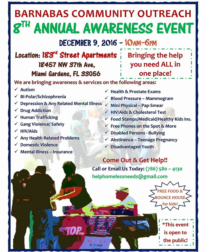 Flyer for 8th Annual Awareness Event 2016