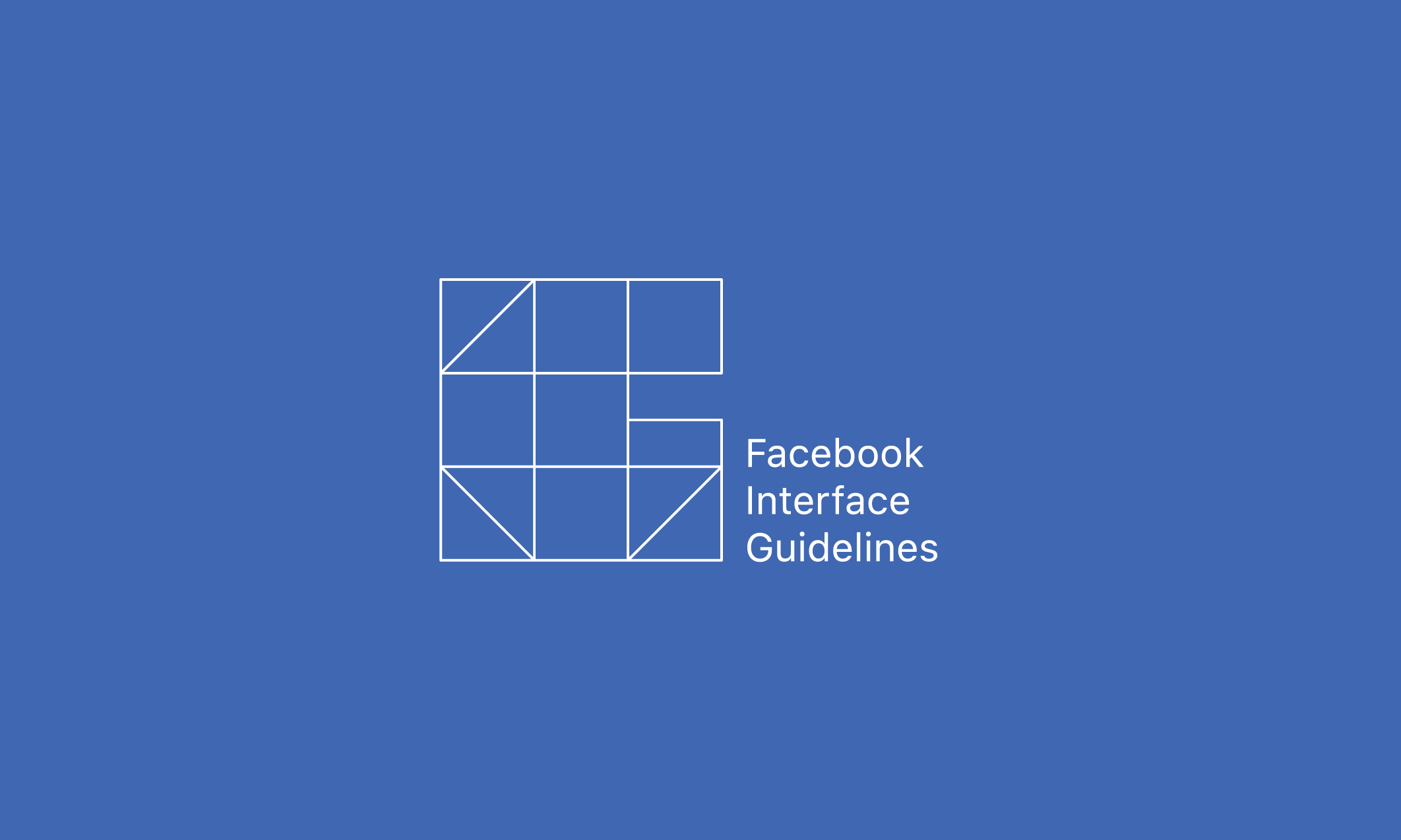 Facebook Interface Guidelines