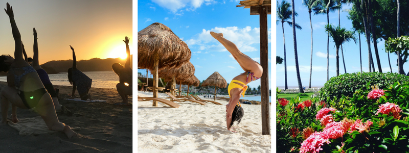 Yoga on the beach and some beautiful Costa Rica scenery