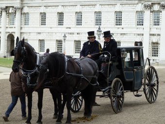 Location filming at Greenwich