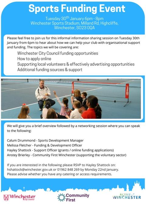 Sport Funding Flyer
