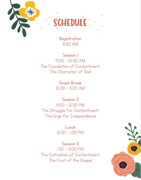 Women's Conference Schedule