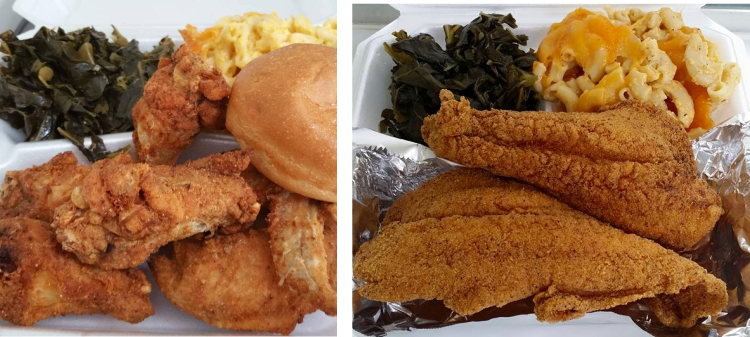 FISH AND CHICKEN PLATES