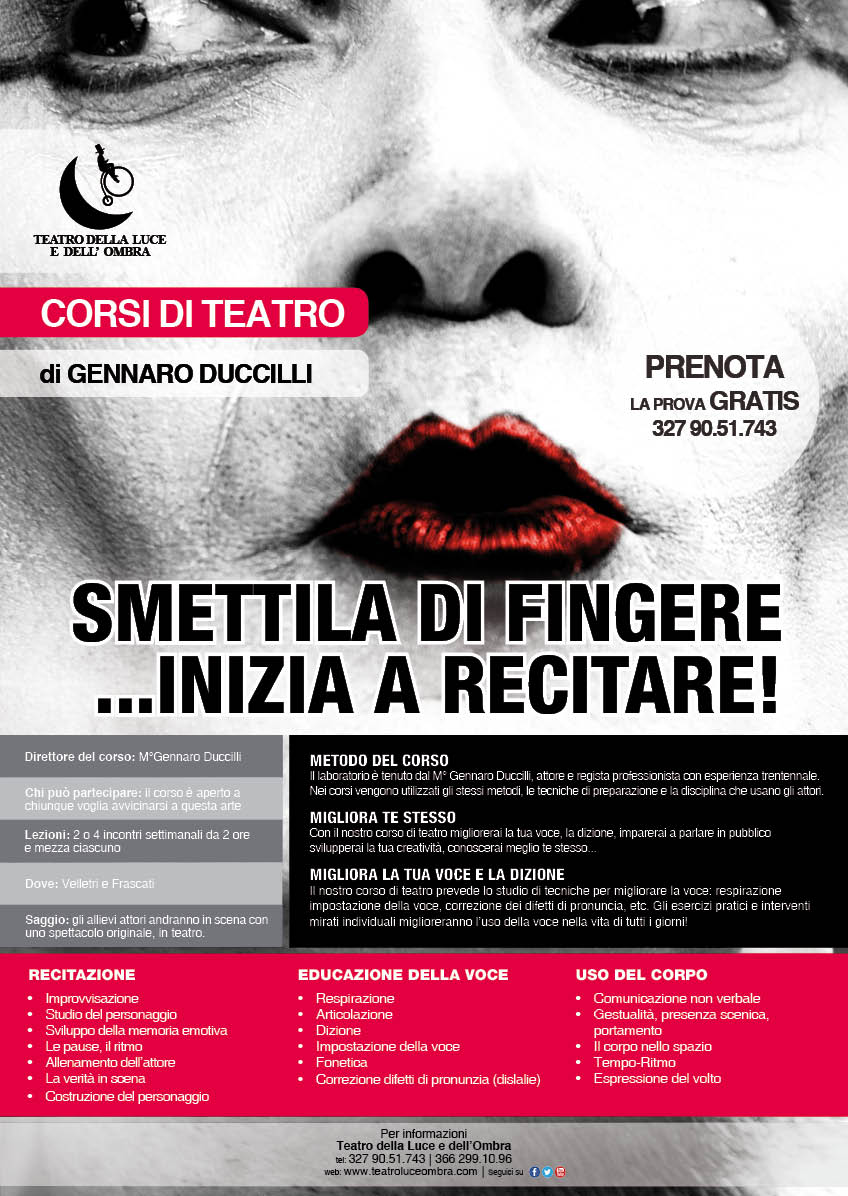 Corso di teatro a Frascati - OPEN DAY