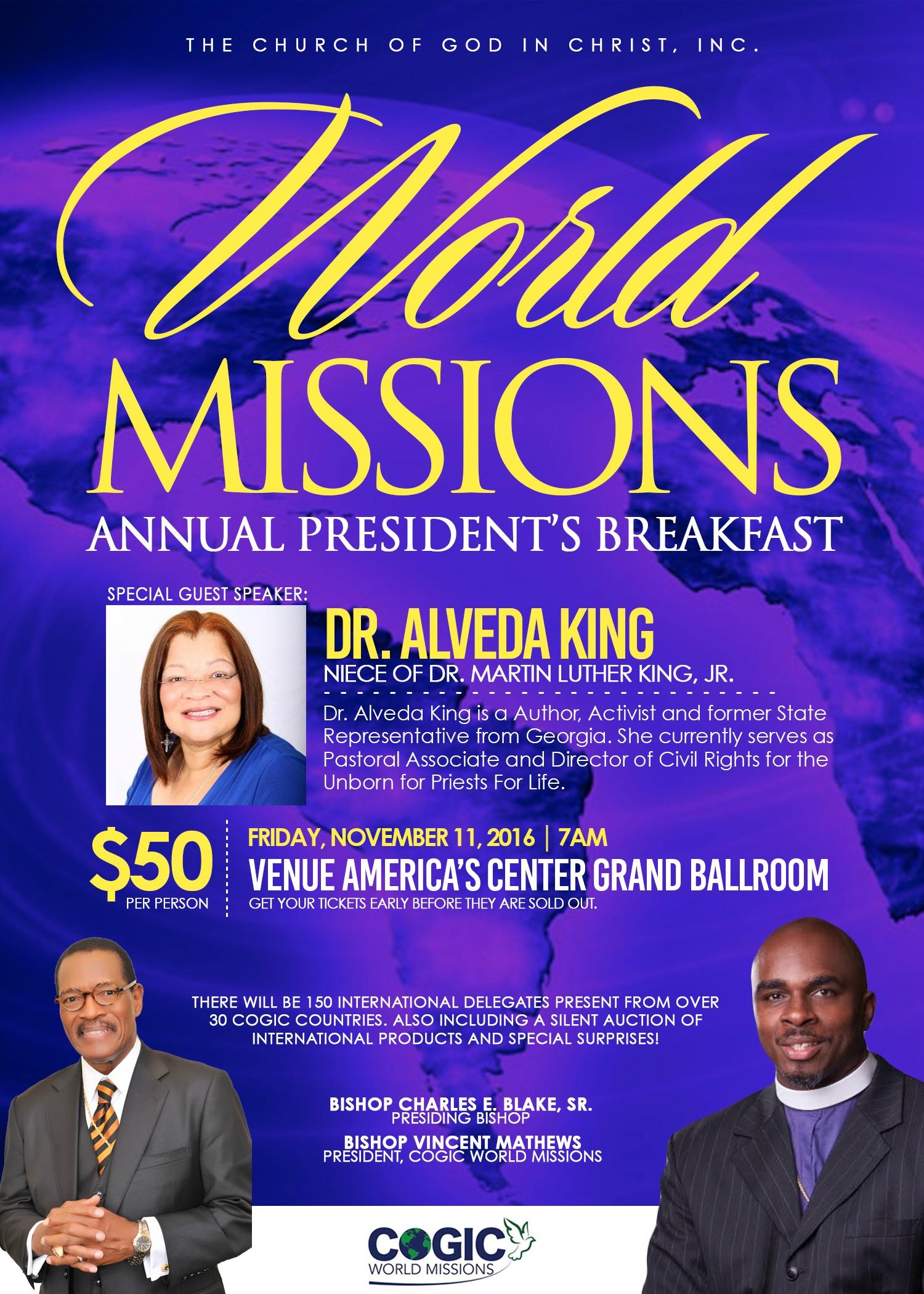 CWM Presidents Breakfast Flier