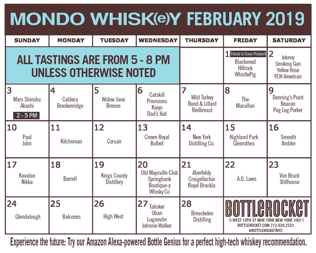 MONDO WHISK(e)Y Calendar