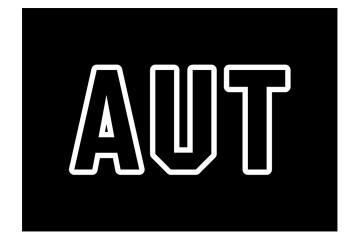 AUT Logo Black