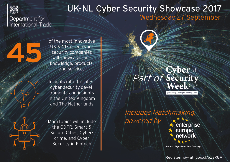 flyer UK-NL Cyber Security Showcase