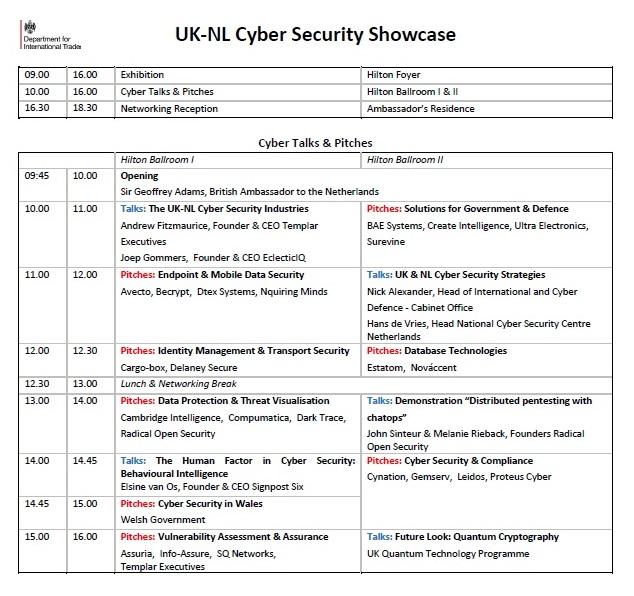 Programme 30 November