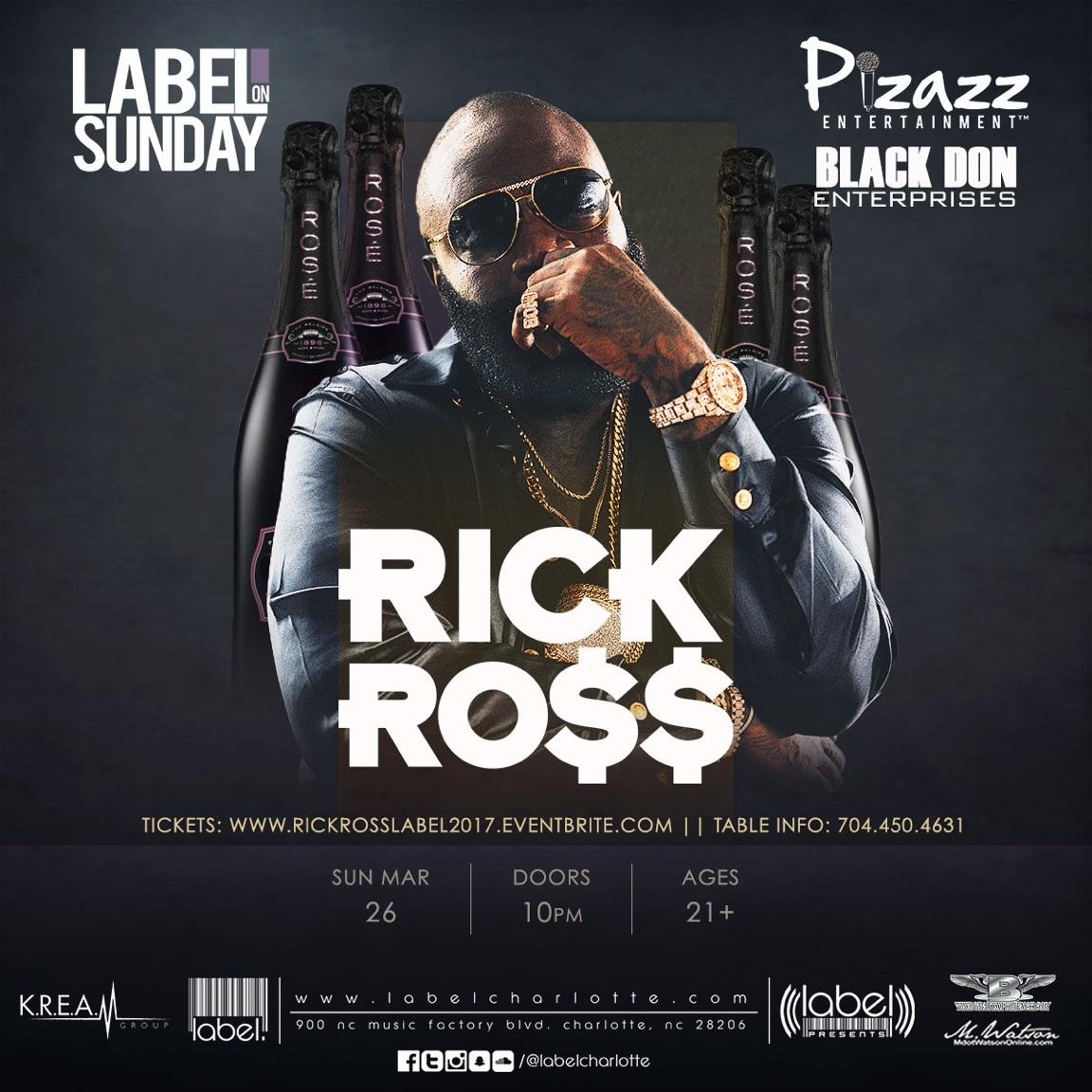 RICK ROSS DA BO$$ LIVE AT LABEL ON SUNDAY