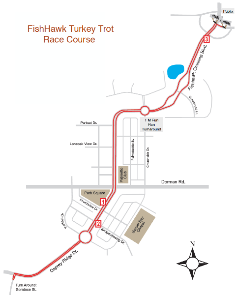 FishHawk Turkey Trot Race Course