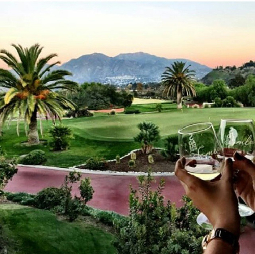 Enjoy a glass of wine to benefit BreastfeedLA at Malibu Family Wines overlooking Angeles National Golf Course.