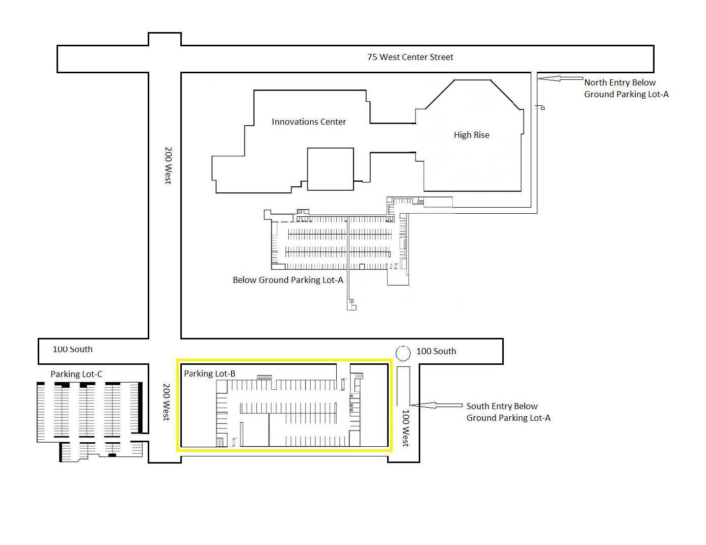 Nu Skin Innovation Center Parking Map