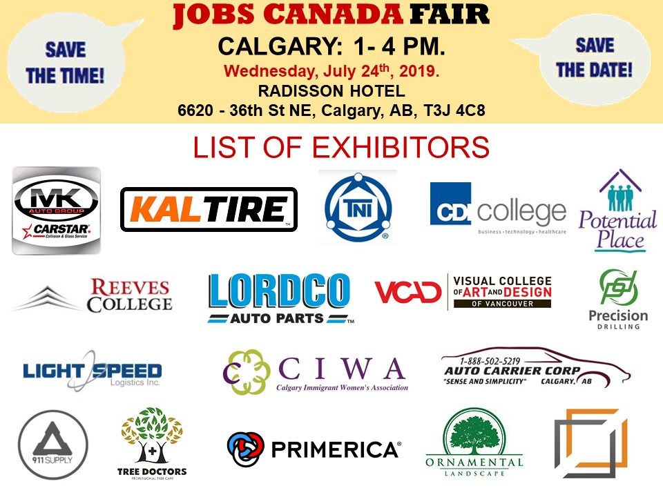 CALGARY JOB FAIR – September 26th, 2019 Tickets, Multiple