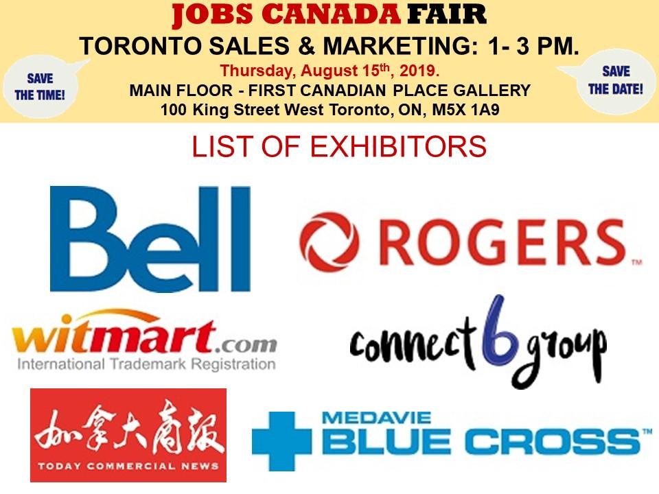 Toronto Sales & Marketing Job Fair - October 17th, 2019