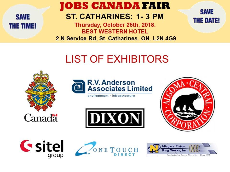St  Catharines Job Fair – September 17th, 2019 Tickets, Tue