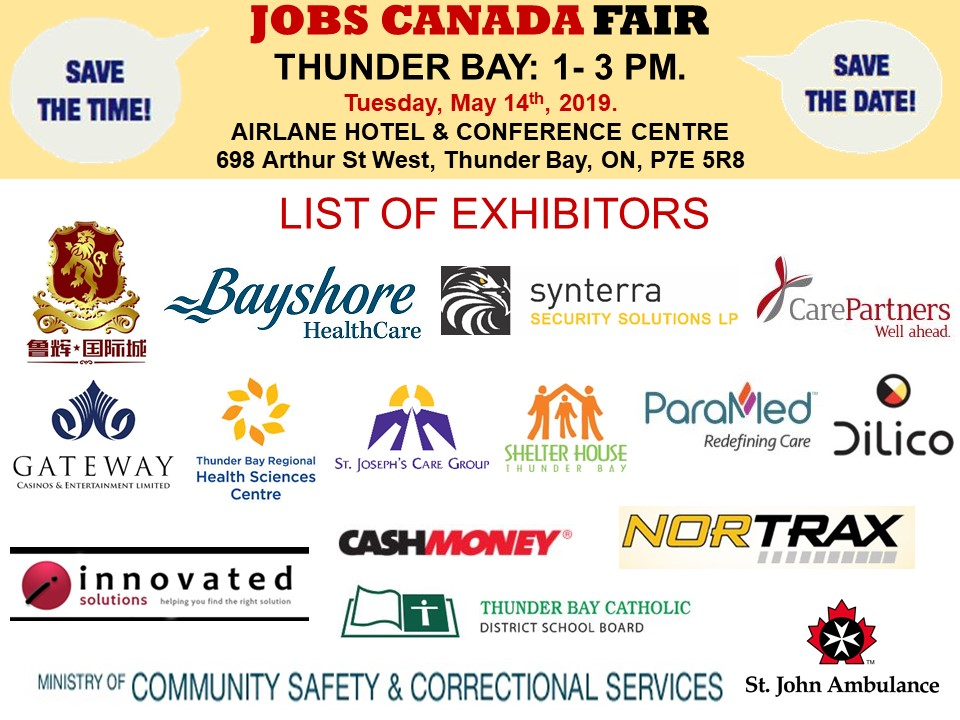 FREE: Thunder Bay Job Fair - September 19th, 2019 Tickets, Multiple
