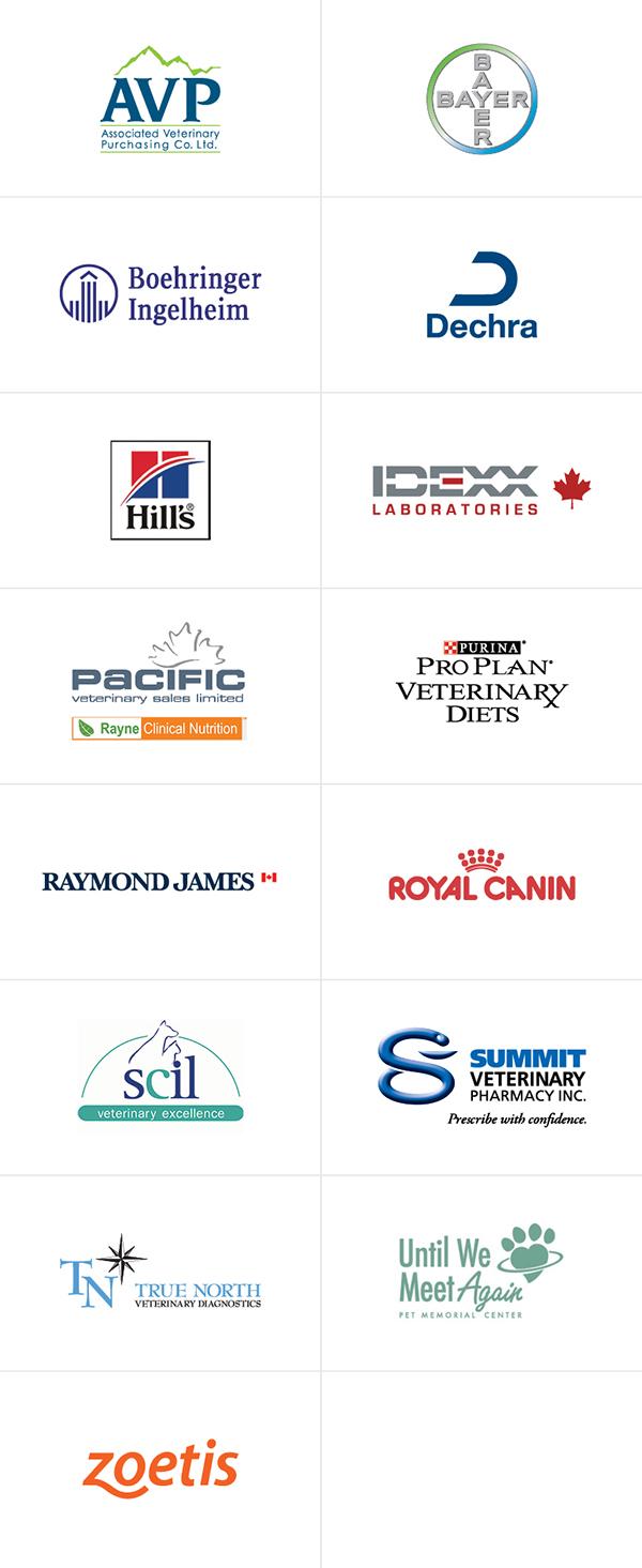Canada West Vets - Spring Seminar 2019 - Sponsor logos