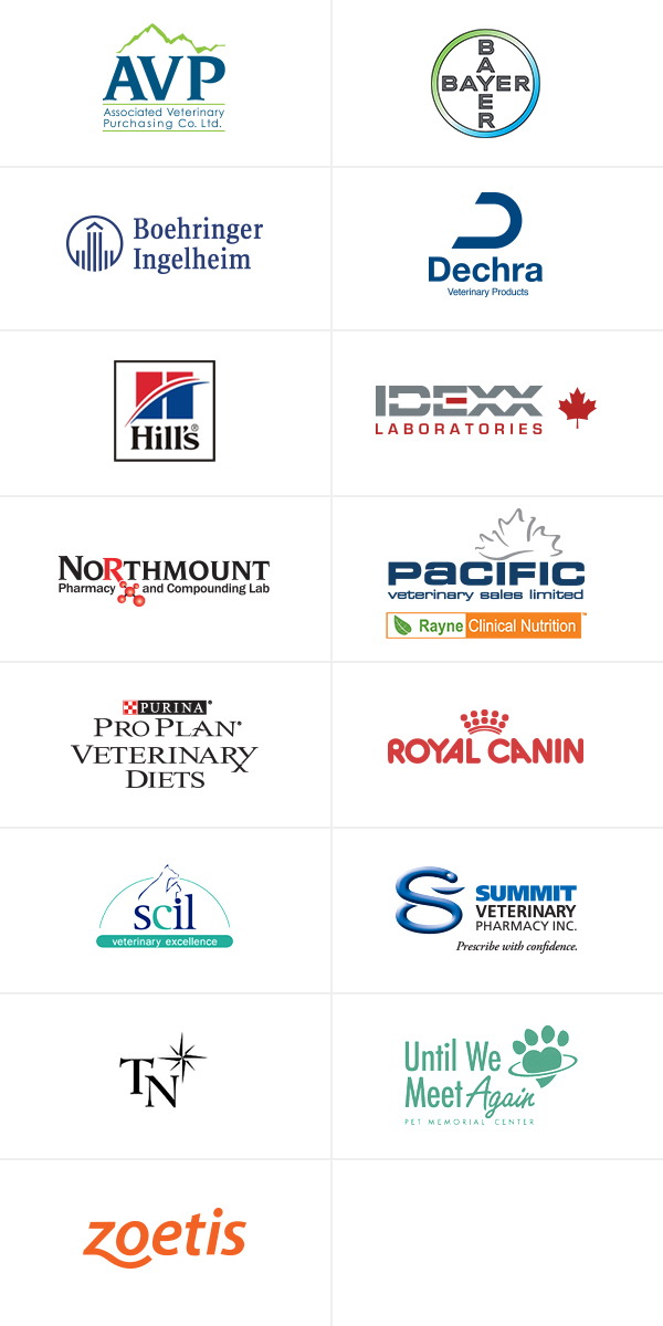 Canada West Vets 2018 Symposium - sponsor logos