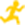 Yellow icon of running person