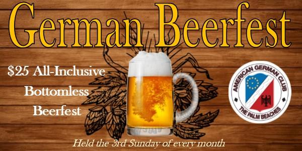 German Beerfest banner undated