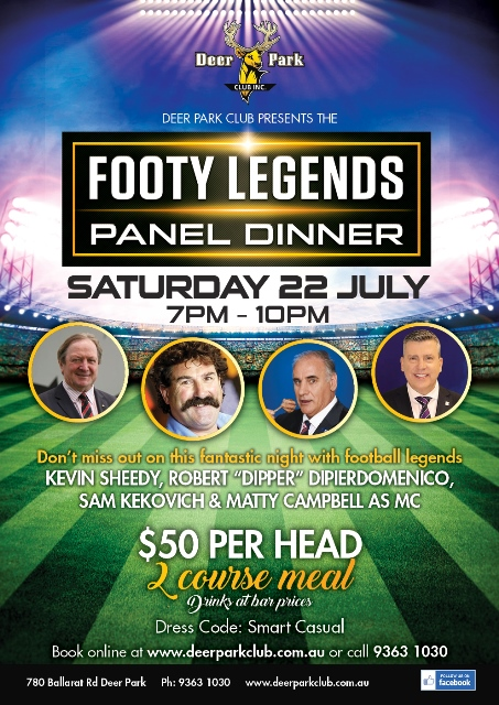 Footy Legends Panel Dinner