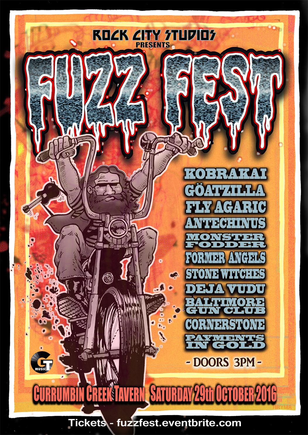 Fuzz Fest Gold Coast Poster